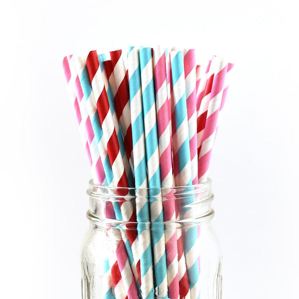Paper Straws - Striped Paper Straws