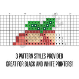 Raining Hearts Cross Stitch Pattern
