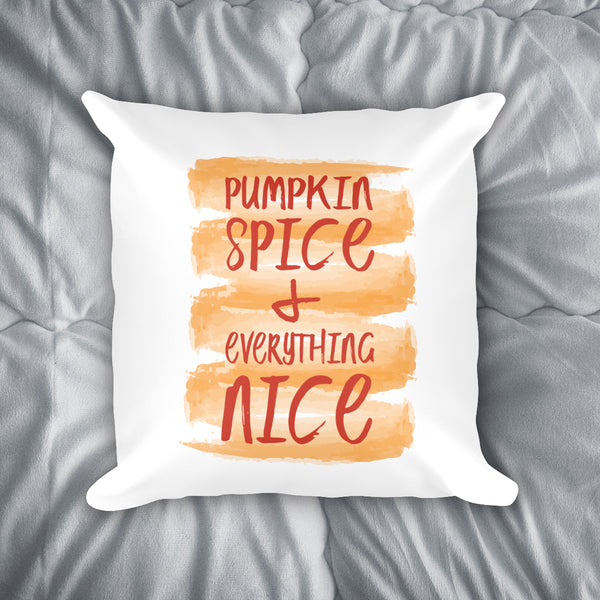 Pumpkin Spice Throw Pillow