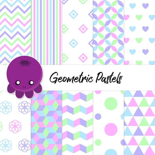 Geometric Pastel Digital Paper