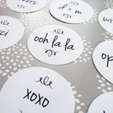 Stickers - French Script Stickers