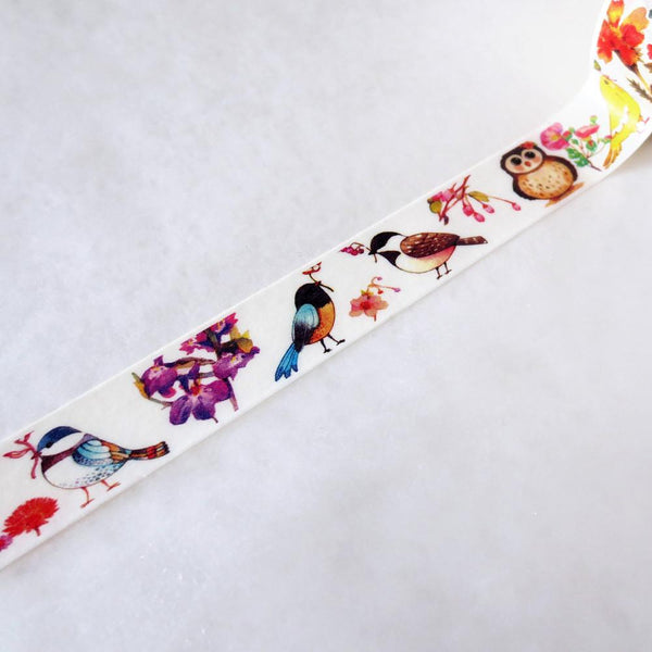 Washi Tape - Birds And Cherry Blossoms Washi Tape