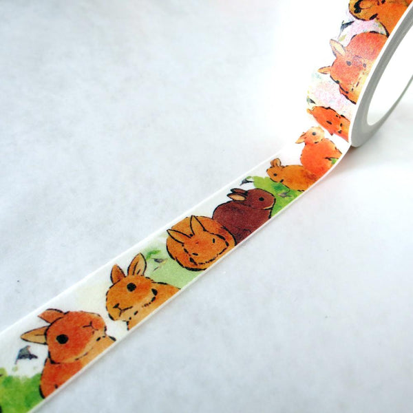Washi Tape - Brown Rabbit Washi Tape