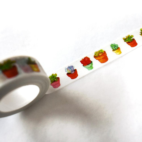 Washi Tape - Potted Succulent Washi Tape