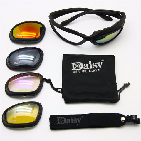 82e52411e6c ... Tactical Military Sunglasses - Perfect for Fishing Hunting Outdoor  Sports - 4 Lens Kit ...