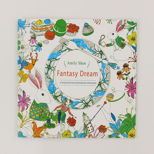 24 Pages Fantasy Dream Coloring Book For Adults
