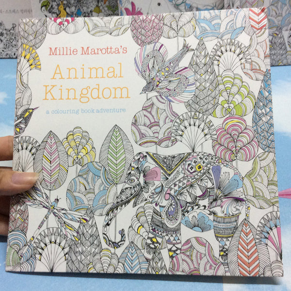 24 Pages Animal Kingdom Anti-Stress Coloring Book For Adults