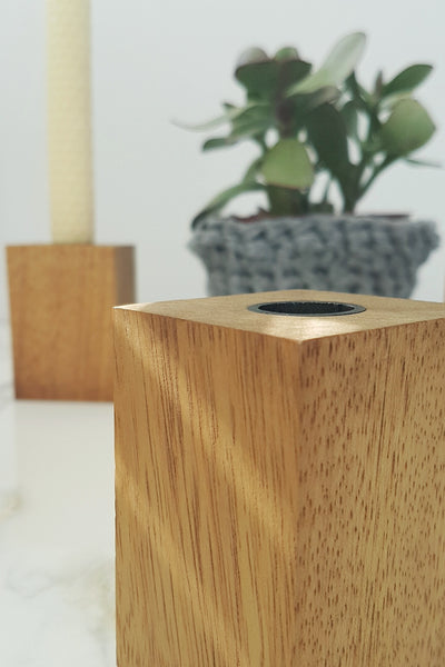 Modern candle holder cube. Beautifully handcrafted
