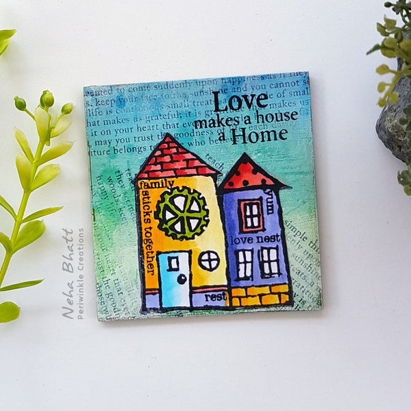 Love home fridge magnet