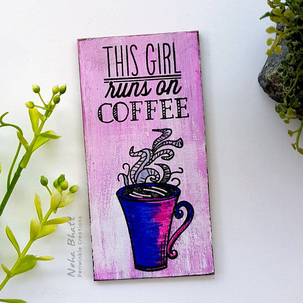 Girl and coffee fridge magnet