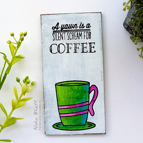 Silent scream for coffee fridge magnet