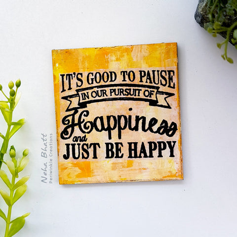 Pursuit  of  happiness fridge magnet