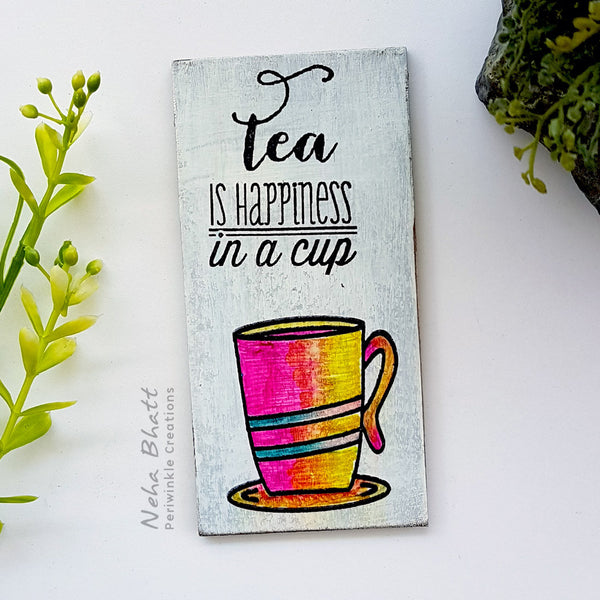 happiness in a cup fridge magnet