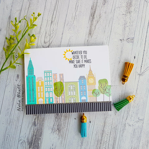 City Scene - Be Happy Card