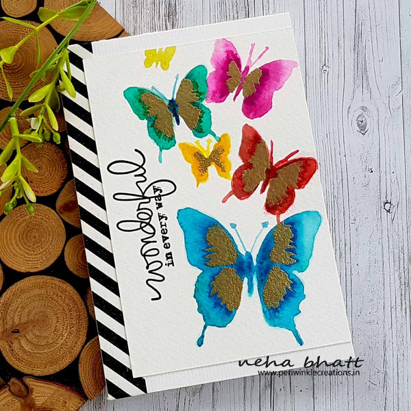 hand painted butterflies