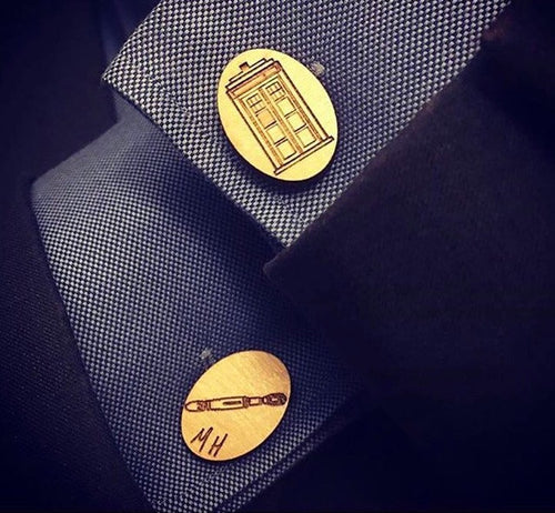 Customized Cufflinks and Tie Clips