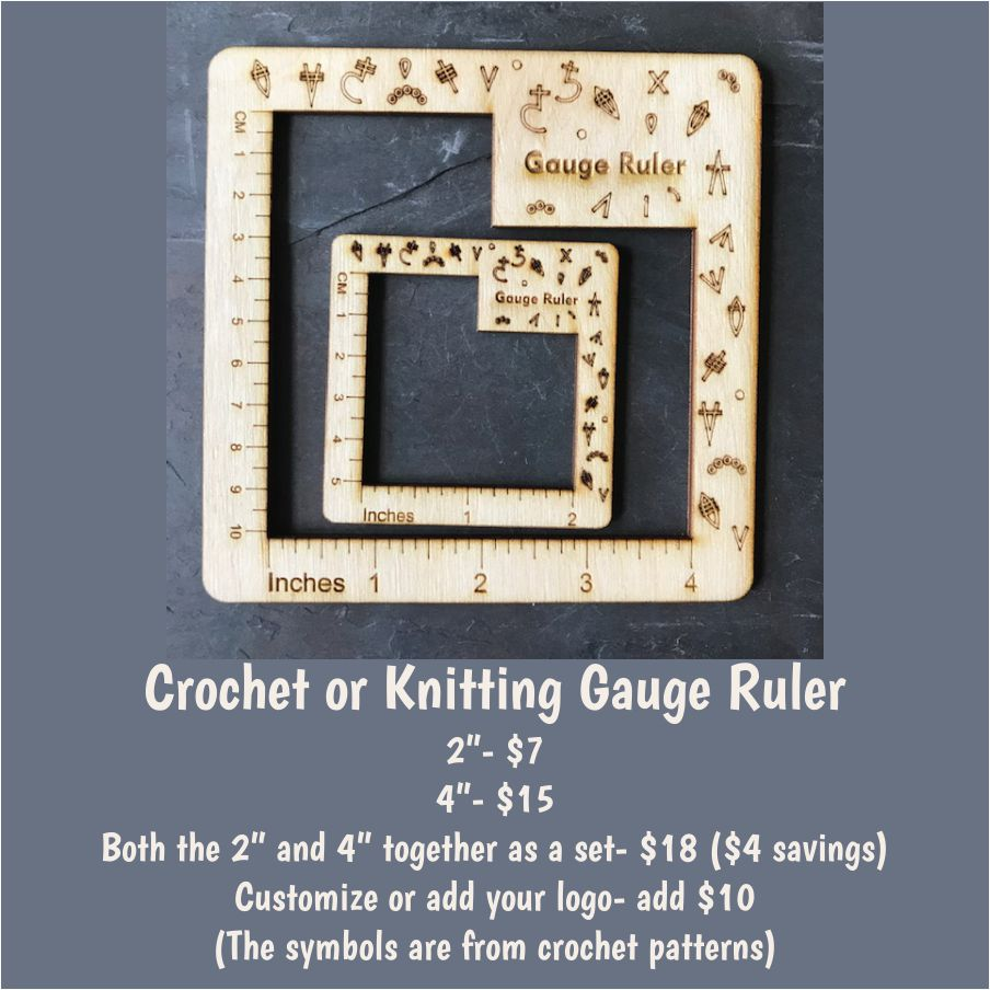 Gauge Rulers Crochet/Knit