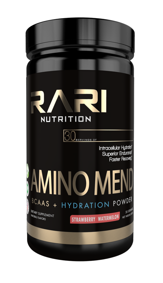 RARI Nutrition AMINO MEND 3-in-1 BCAA and Hydration Powder for Recovery, Strength, and Endurance