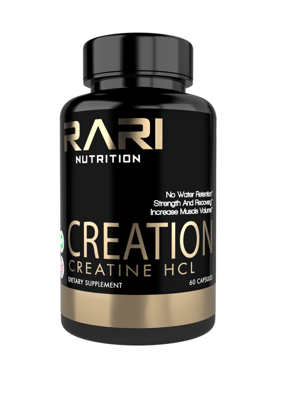 RARI Nutrition CREATION 100% Natural Creatine HCL Capsules for Muscle Size and Strength (60 Count)