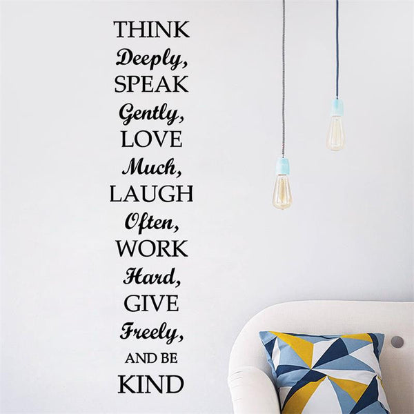 Wall Art Be Kind inspiring quotes Wall Stickers Removable Vinyl Decal Art Living Room Bedroom decor