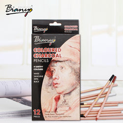 Pen / Pencil Bianyo 12 Pcs/Box Artist Soft Pastel Pencils Crayon Charcoal Pencils Artiste Wooden Non toxic Pencil for Sketching  Drawing