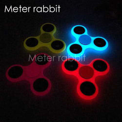 Fidget Toy Glow in Dark Fidget Spinner Toy Hand Spinner for ADHD Autism and ADD, Calming Toy