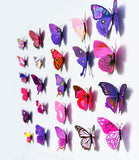 Wall Art 12 Colorful Butterflies per set