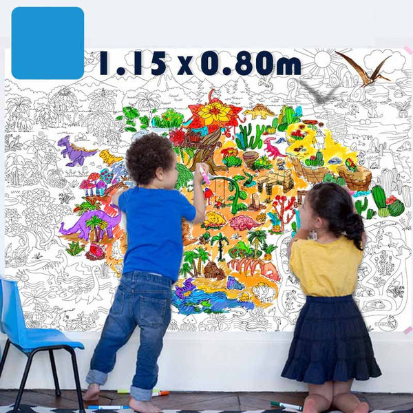Wall Art kids huge painting graffiti scene kids educational toys coloring books for kids