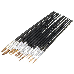 Paint Brushes 12 Piece Artist Paint Brush set great for Oil, Watercolor or Acrylic Paints
