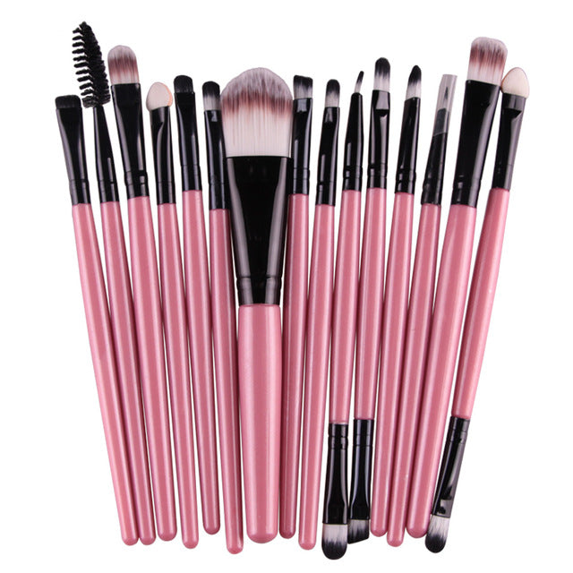 15-Piece Professional Makeup Brush Set  FH
