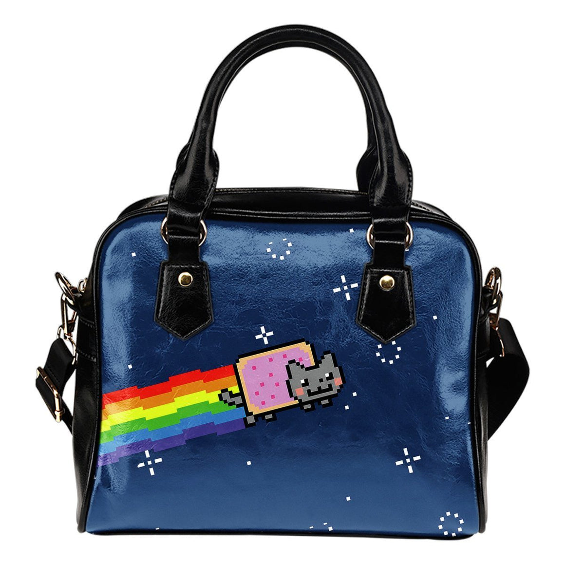 Space Cat Shoulder Handbag