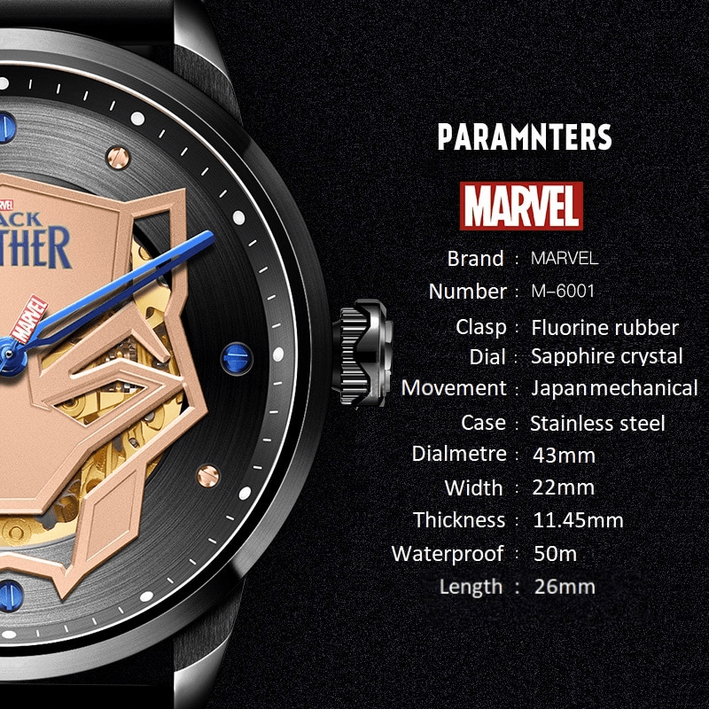 Black Panther Automatic Self-Wind Watch