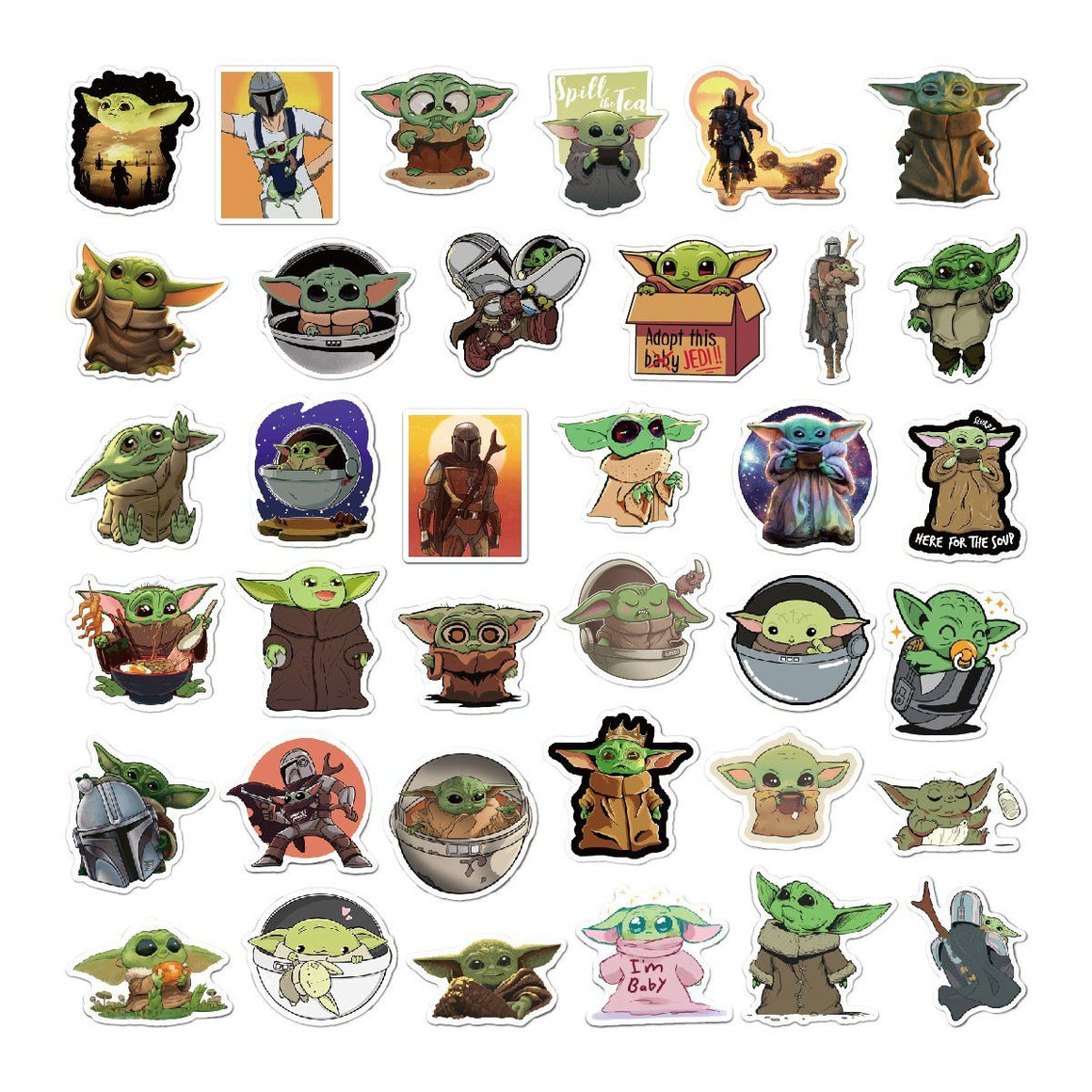 Baby Yoda Stickers Set 25pcs