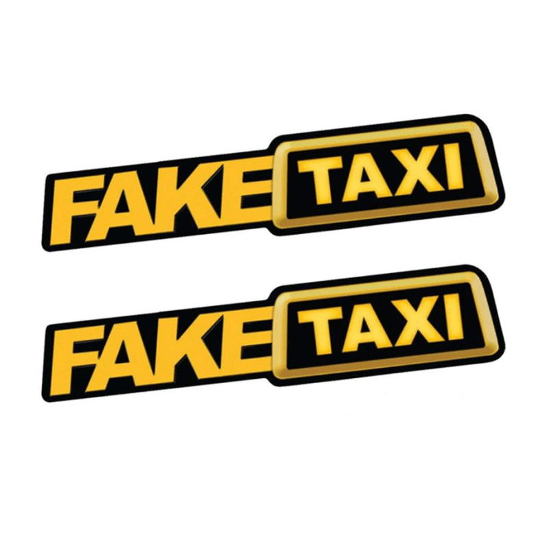 Fake Taxi Car Stickers