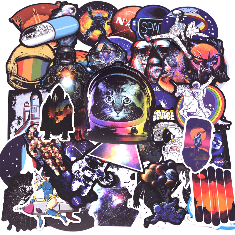 Galaxy Astronaut Stickers