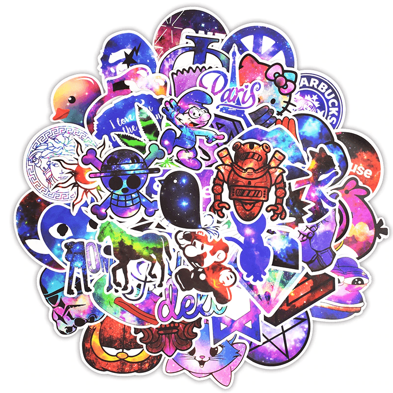 Galaxy Mixed Cartoons Stickers