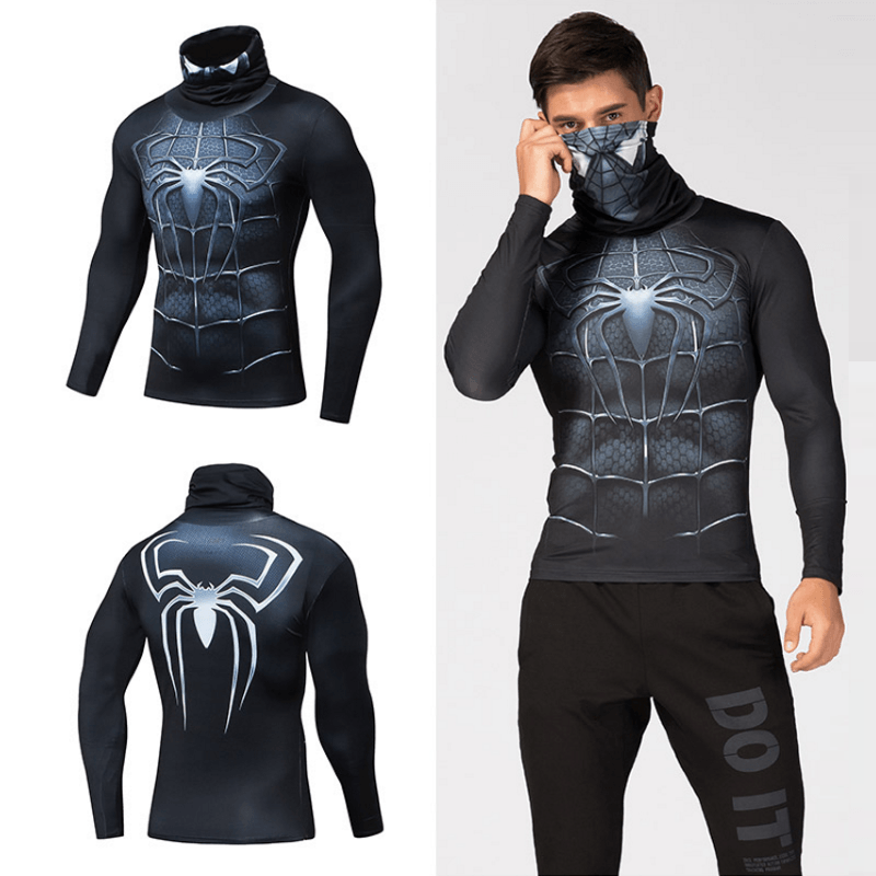 Superhero High Collar 3D Shirt