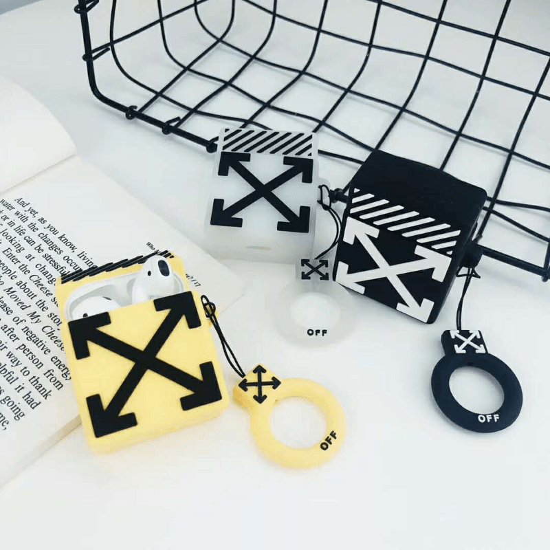 Off White Cube AirPods Case