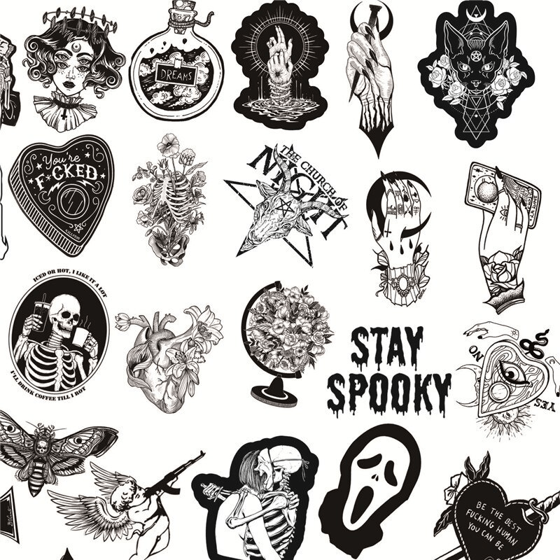 Skull Love Stickers