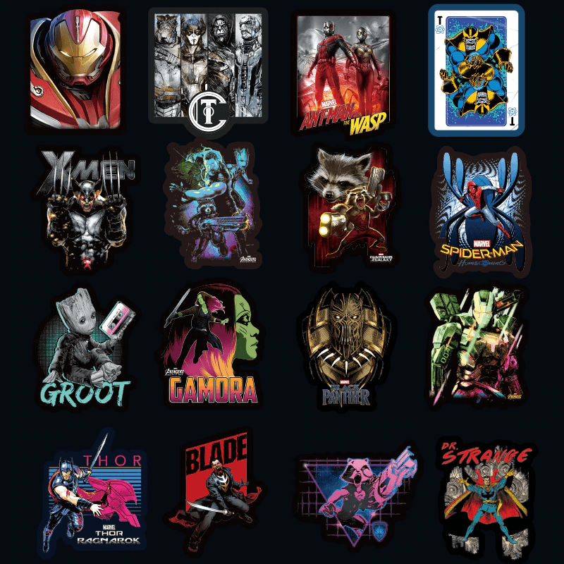 Superhero 200Pcs Stickers