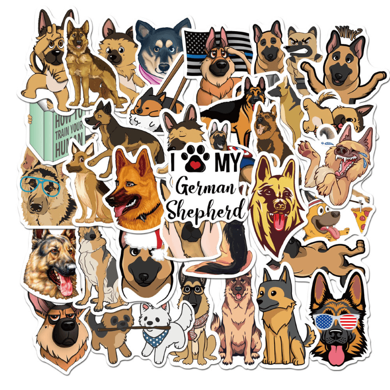 Shepherd Dog Stickers