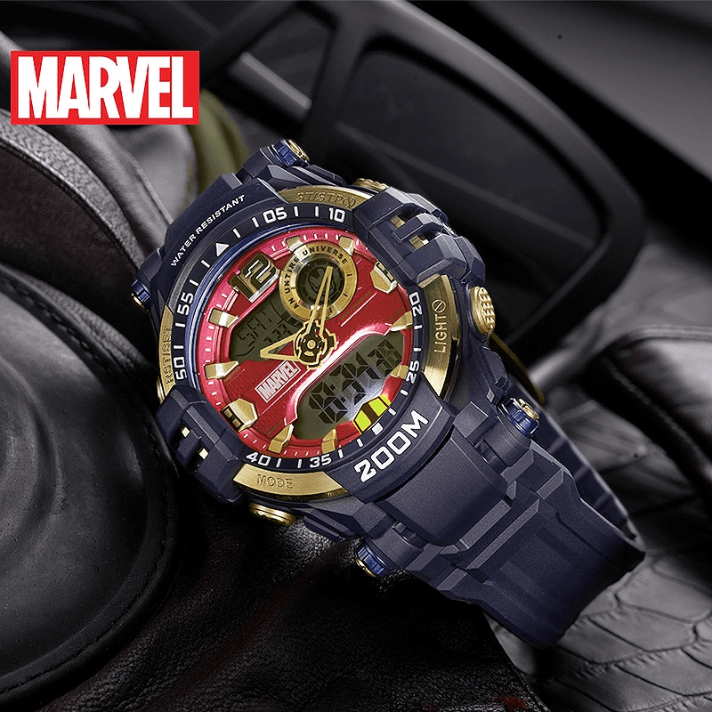 Iron Man Genuine Dual Display Watch