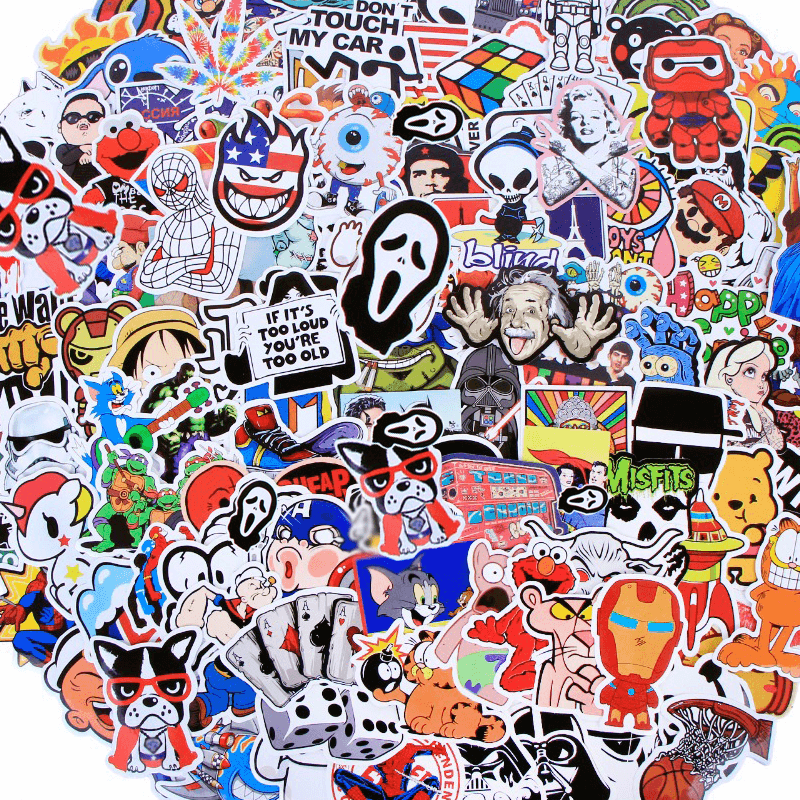 500Pcs Mixed Cool Stickers