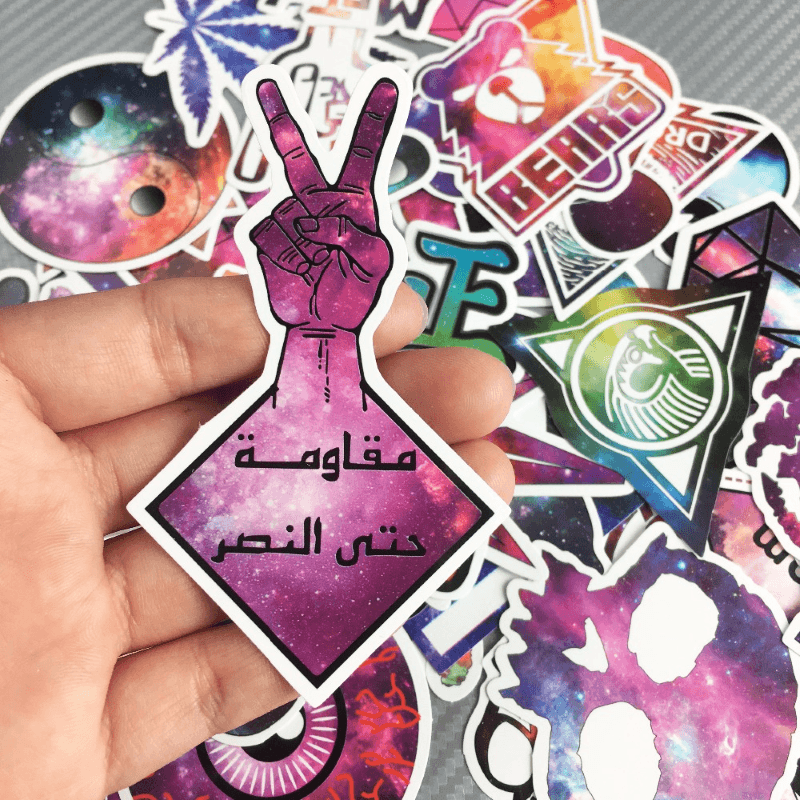 Galaxy Space Cartoon Stickers