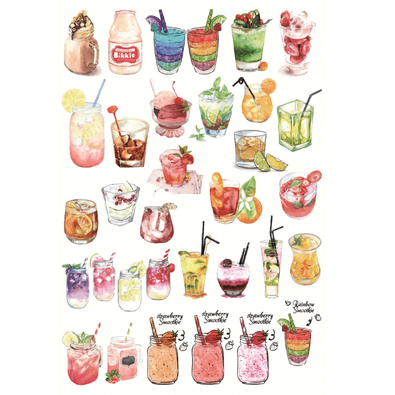 Foods And Drinks Stickers