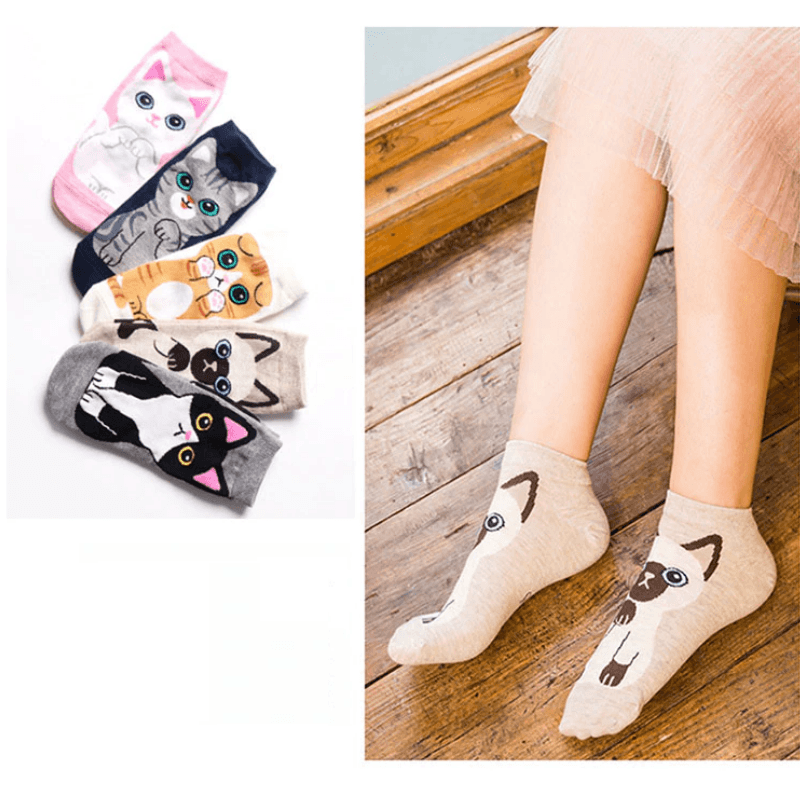 Kawaii Cat Ankle Socks