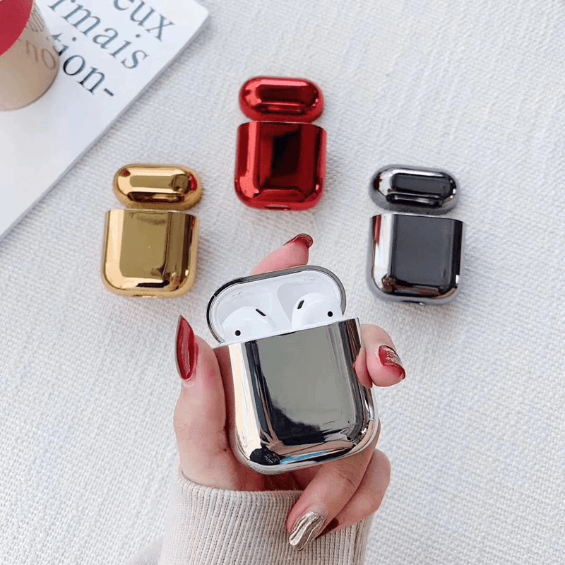 Luxury Metal Plated Airpods Case