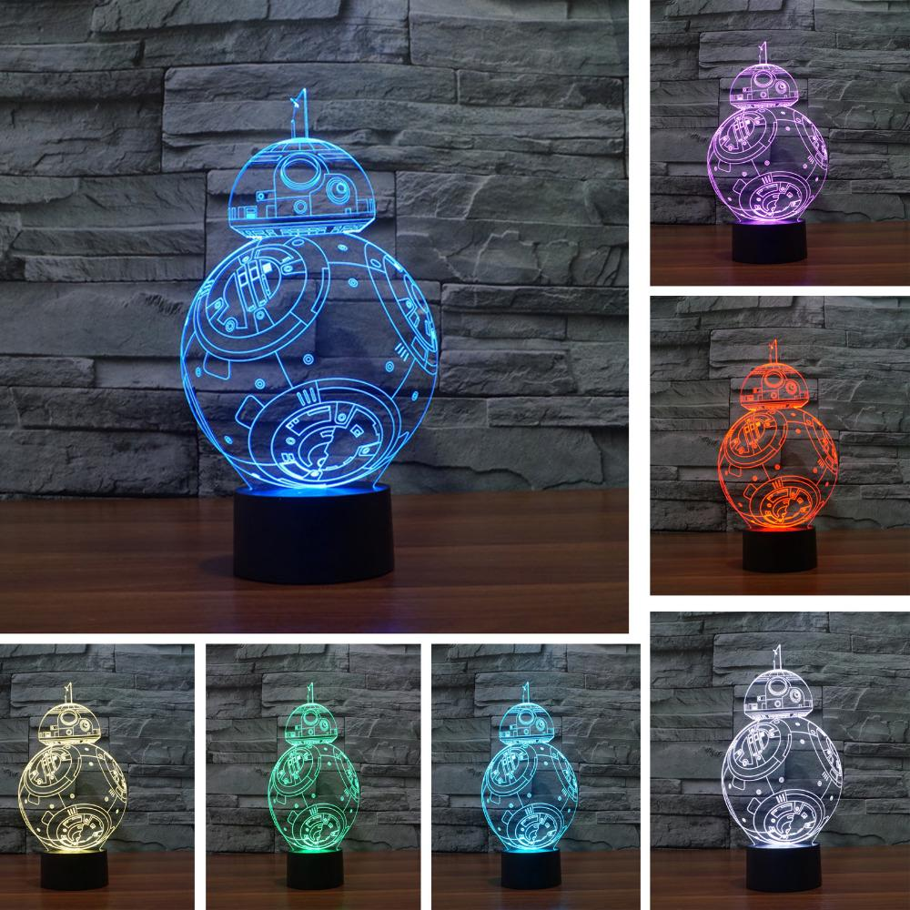 Star Wars 3D Led Lamp Colors Changing