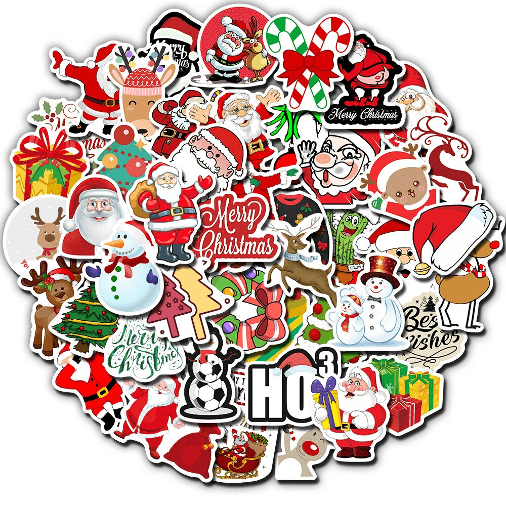 Santa Claus Christmas Stickers