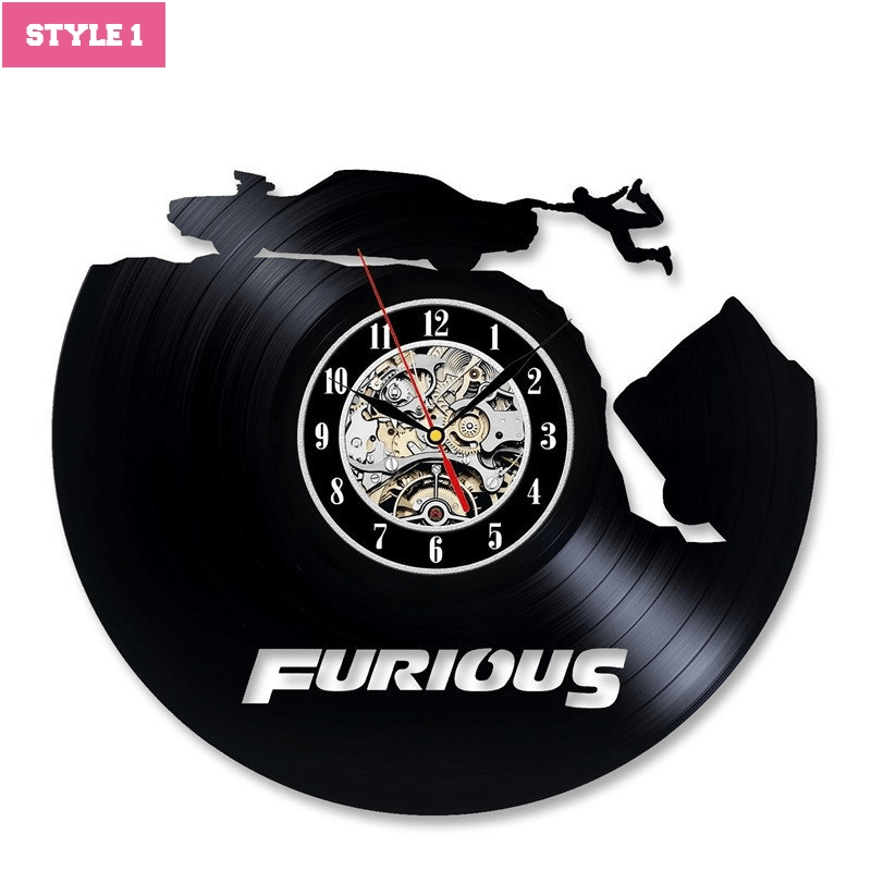 Fast Furious Wall Clock